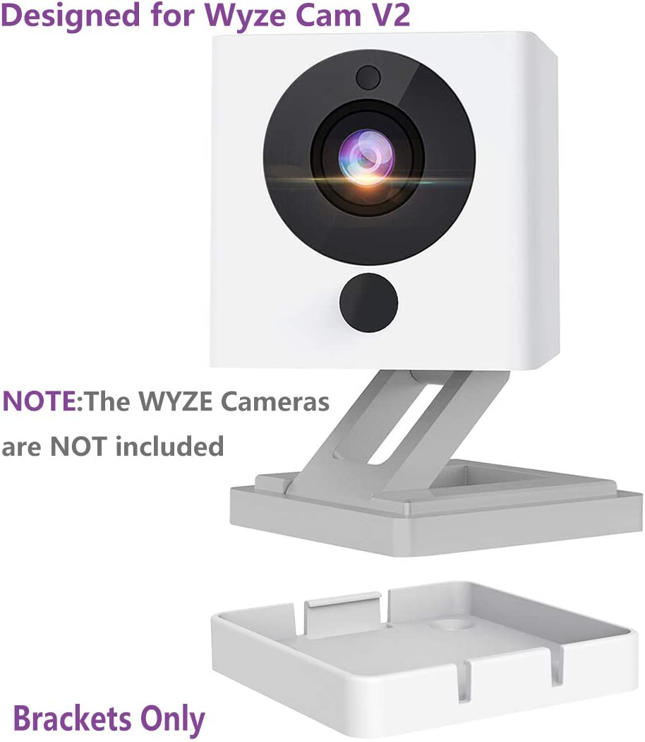 Not Including Cameras Yuzz Pack of 4 Wyzecam V2 Wall Mount Bracket, Wall and Ceiling Mount for Wyze Cam 1080p HD Camera and iSmart Alarm Spot Camera, Full Install Kit