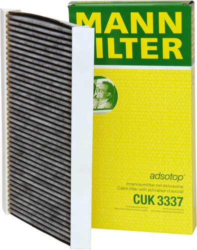 mann-filter-cuk-3337-cabin-filter-with-activated-charcoal-for-select-saab-models