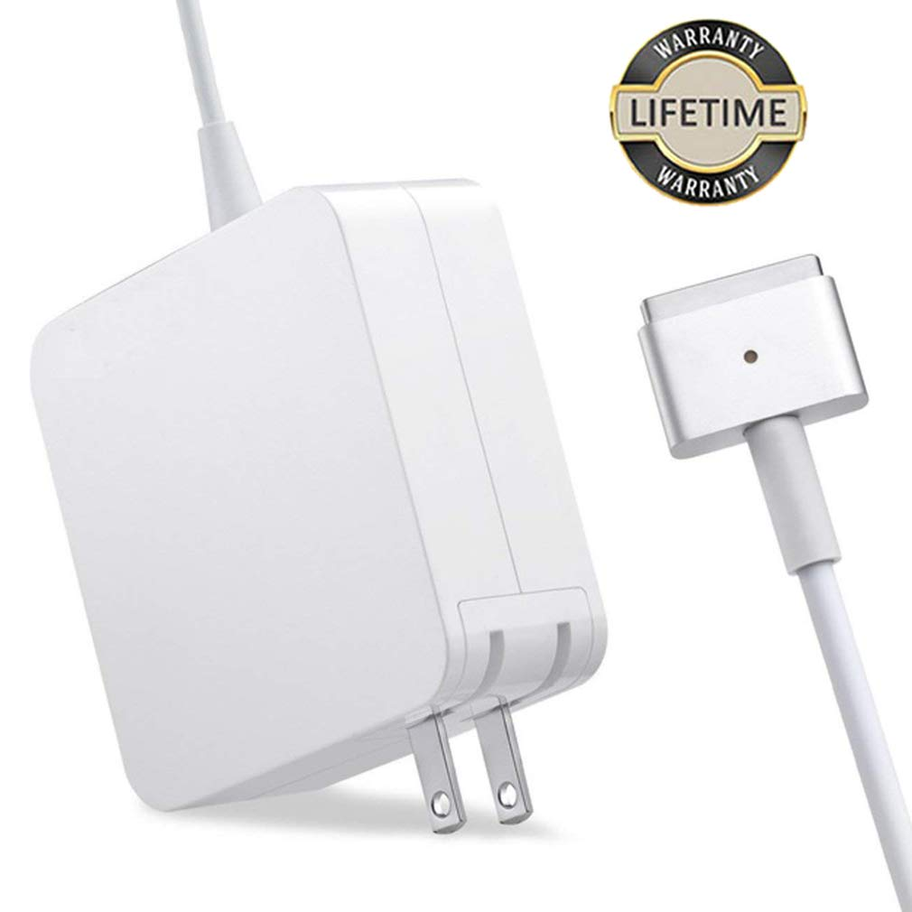 Mac Book Air Charger, 45W MagSafe 2 Power Adapter T-tip Style Connector Replacement Charger for Mac Book Air 11 inch and 13 inch (45W-T)