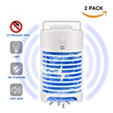 OLIISS Mosquito Killer, Electric Bug Zapper, Plug-in Insect Killer Lamp, Night Light - Fits in AC100-240V Lighting Sensor Control Indoor Use (2 packs)