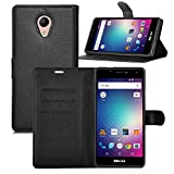 KuGi BLU Life One X2 Mini case,ultra-thin MX style PU Cover + TPU Back Wallet stand Case For BLU Life One X2 Mini smartphone(Black)