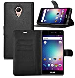 Cubot HAFURY UMAX (2017) case, KuGi ultra-thin MX style PU Cover + TPU Back Wallet stand Case For Cubot HAFURY UMAX (2017) smartphone(Black)