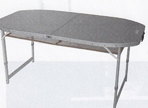 150 cm STABIELO - OVALER CAMPINGTISCH - ALUMINIUM - MIT TRAGETASCHE - ZUSAMMENKLAPPBAR - ALUMINIUM TISCHPLATTE MIT TRAGETASCHE - ROBUSTES ALUMINIUMGESTELL - Campingtisch 150 x 80 x 70 / 65 / 58 cm - verstellbare Tischbeine - Holly® Produkte - STABIELO INNOVATIONEN MADE IN GERMANY -