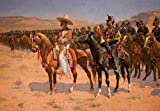 wall26 The Mexican Major (The Wild West or the Troops) by Frederic Remington - American Painter - Country Western - Peel and Stick Large Wall Mural, Removable Wallpaper, Home Decor - 66x96 inches