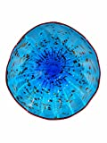 Dale Tiffany Wrightwood Art Glass Wall Decor Plate, Blue
