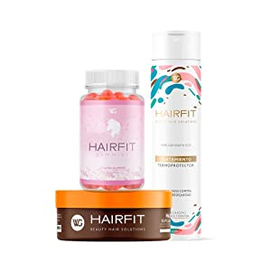 HAIRFIT KIT: Thermoprotective Treatment with Collagen and Keratin + Repolarizing Mask with Vitamin E and Amino Acids + Hair Growth Gummies Vitamins for Stronger Hair