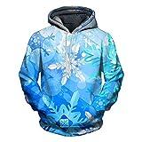 CieKen Men Snowflake Printed Hoodies Unisex Pullover Hooded Sweatshirt Athletic Shirt