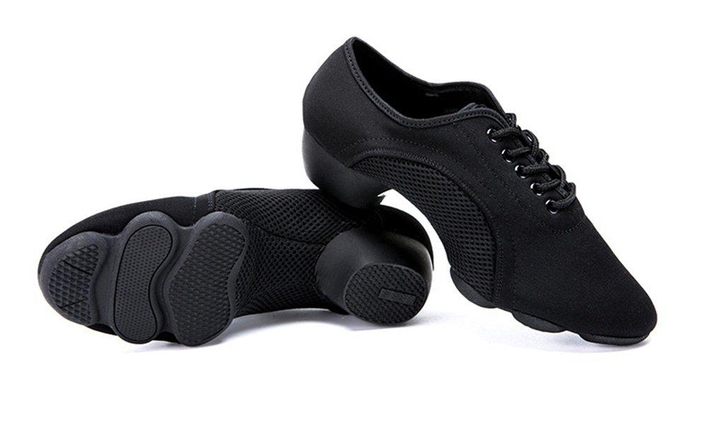 XW WX Latin Female Latin WX Dance Lehrer Schuhe Adult Modern Soft Turnschuhe Square Dance Schuhe Jazz Gummisohle Schuhe GB Walzer 33-43 schwarz a0a105