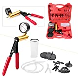Timmart Car Hand Held Vacuum Pump Tester Brake Fluid Bleeder Kit