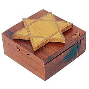 Hecho a mano de madera canonista truco secreto herrete caja del rompecabezas 3229 - Caja rompecabezas ...