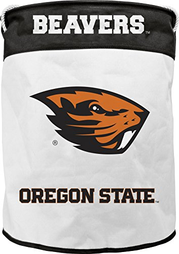 NCAA Oregon State Beavers Canvas Laundry Basket with Braided Rope Handles