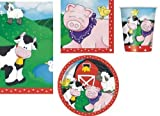 FARM FRIENDS BIRTHDAY PARTY TABLEWARE PACK NAPKINS PLATES CUPS TABLECOVER