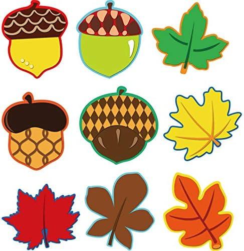 53 PCs Autumn Set-cardstock window Pictures-colorful kites and foliage-autumn decorations