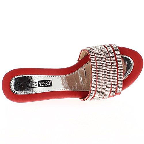 Muli Cuneo rosso tacco 10cm e 4cm vassoio