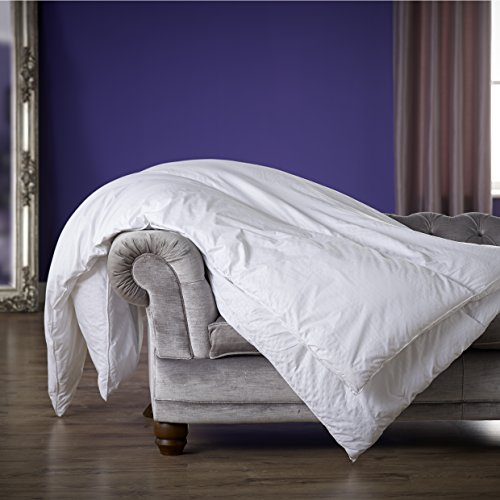 -[ Slumberdown Sleepwell Luxury Stripe 10.5 Tog Duvet, White, King Size  ]-