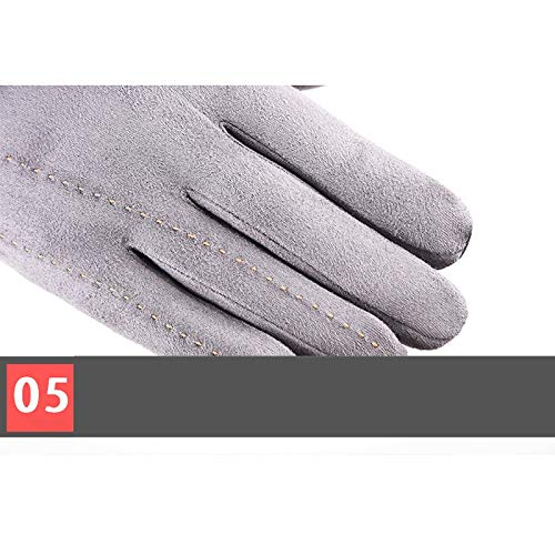 AINIYF Full Finger Gloves   Suede Men's Winter Warm Outdoor Gloves Cycling Motorcycle Outdoor Sports Plus Velvet Wind Screen (Color : Black) by AINIYF (Image #5)
