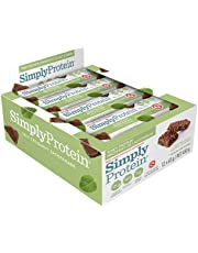 SimplyProtein Whey Bar, Chocolate Mint, Gluten-Free - (1.4 oz, Pack of 12)