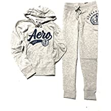 Aeropostale Women's Two Pieces Set Hoodie and Jogger Sweatpants
