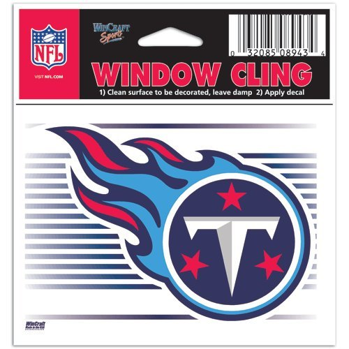 (Tennessee Titans NFL 3x3 Static Window Cling Decal)