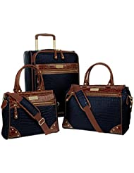 Samantha Brown 3-Piece Classic Luggage Set - Navy Blue