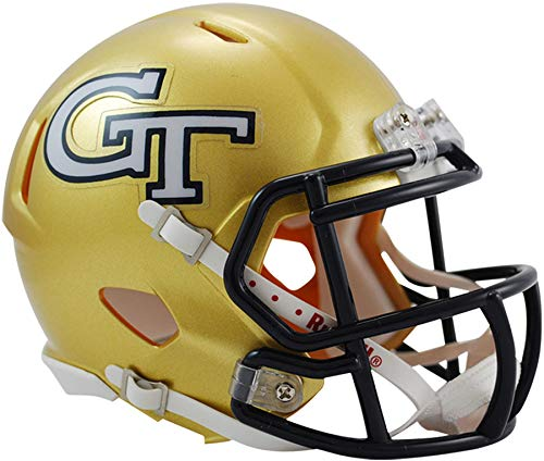 Sports Memorabilia Riddell Georgia Tech Yellow Jackets Revolution Speed Mini Football Helmet - College Mini Helmets