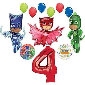 "3 X PJ Masks Gekko Shape 37/"" x 18/""//94 cm x 45 cm Foil Balloon"