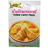 Lobo Yellow Curry Paste 50 G (1.76 Oz) Thai Herbal Food X 9 Bags