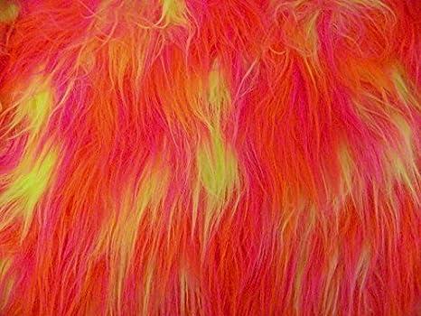 CRS Fur Fabrics Tela de Piel sintética de Pelo Largo, Color ...