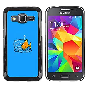 MOBMART Slim Sleek Hard Back Case Cover Armor Shell FOR Samsung Galaxy Core Prime - Please Stand By