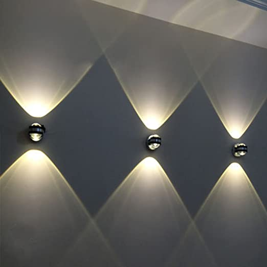 2W Aluminum Wall Lamp Warm White Modern 2 LEDs Up Down Light Spot Sconce