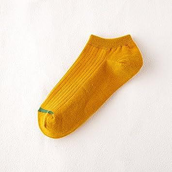 Liuxc Calcetines Calcetines de algodón para Hombres en Verano Calcetines de Negocios para Hombres de Ocio Amarillos(10 Pares): Amazon.es: Deportes y aire ...