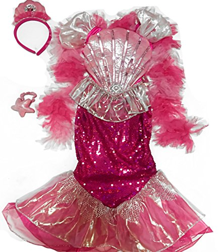 sequin-mermaid-4pc-costume-size-4-dress-headpiece-boa-and-wristlet