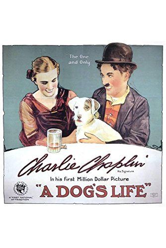 ArtEdge a Dog's Life, Charlie Chaplin, Edna Purviance Poster Print, 18 x 12""
