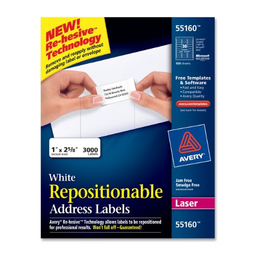 avery-white-repositionable-address-labels-for-laser-printers-1-x-2625-inches-box-of-3000-55160