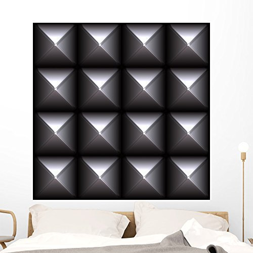 Metal Studs Pattern Tiles Wall Mural by Wallmonkeys Peel and Stick Graphic (48 in H  sc 1 st  Prior Coated Metals & Metal Studs Pattern Tiles Wall Mural by Wallmonkeys Peel and Stick ...