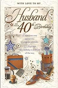 Marido en tu 40th Tarjeta de cumpleaños