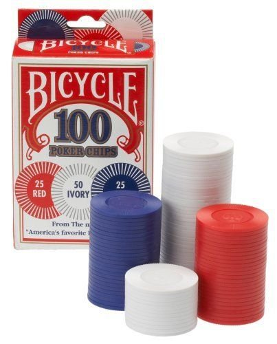 Poker Bike (Bicycle Poker Chips - 100 count with 3 colors)