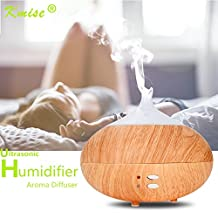 Kmise 300ml Aroma Essential Oil Diffuser Ultrasonic Cool Mist Humidifier Wood Grain for Office Home Bedroom Living Room Study Yoga Spa