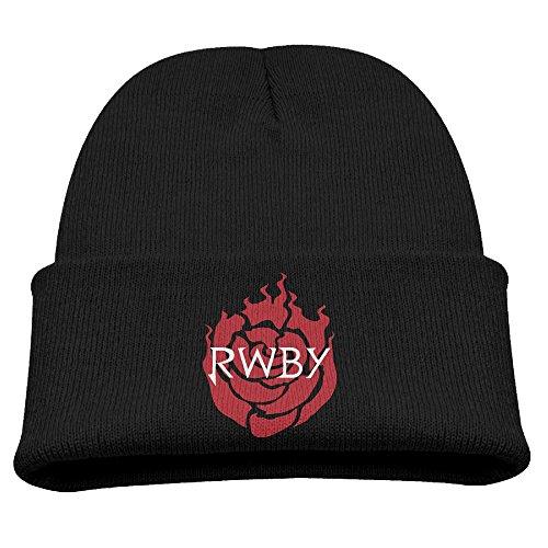 HATSJumpsuits RWBY Ruby Rose Web Animation Kids Beanie Cap Hat Black -