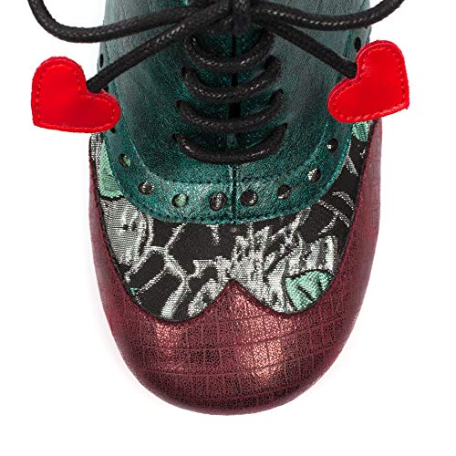 Femme Choice Bow Poetic L Brogues Irregular Multicolore Red Clara Licence by qtxPwTn0OP