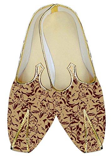 pour Marron de hommes mariage MJ015285 Imprimé Chaussures Pêche INMONARCH PI4CwxYqx