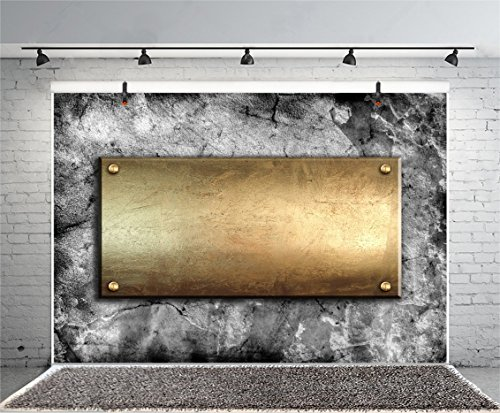 (Leyiyi 6x4ft Photography Backdrop Heavy Metal Style Backdrop Retro Iron Blank Board Marble Crack Birthday Party Rock Music Party Happy Halloween Baby Shower Photo Portrait Vinyl Studio Video Prop)