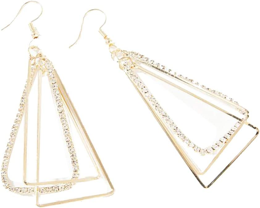 10x Women Detachable Triangle Hoop Dangle Pendant for DIY Earrings Ear Studs