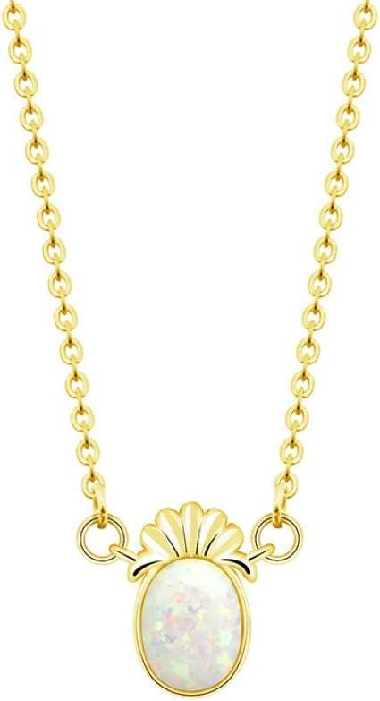 FyaWTM Collar Colgante For Collares con dijes de piña de Oro Rosa Collares para Mujer Ópalo Collar Llamativo de Acero InoxidableRegalos de Dama de Honor