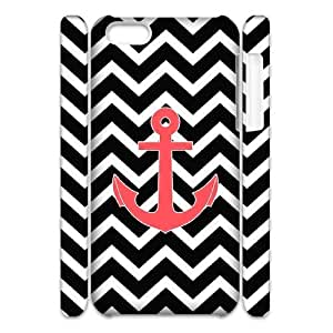 Cell phone 3D Bumper Plastic Case Of Anchor Chevron For iPhone 5C
