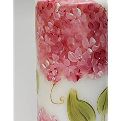 Large Decorative Romantic Hand Painted Pink Hydran