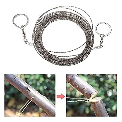 AoOnZan 10m/32.8ft Outdoor Survival Wire Saw Hand Stainless Saw Outdoor Survival Tool Kit Survival Gear Portable Rescue Saw Camping Tool Pocket Gear from AoOnZan