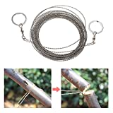 AoOnZan 10m/32.8ft Outdoor Survival Wire Saw Hand Stainless Saw Outdoor Survival Tool Kit Survival Gear Portable Rescue Saw Camping Tool Pocket Gear