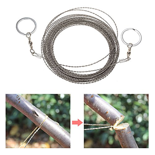 AoOnZan 10m/32.8ft Outdoor Survival Wire Saw Hand Stainless Saw Outdoor Survival Tool Kit Survival Gear Portable Rescue Saw Camping Tool Pocket Gear by AoOnZan