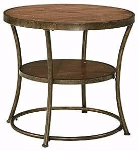Ashley Furniture Signature Design - Nartina End Table - Vintage Casual - 1 Shelf - Light Brown